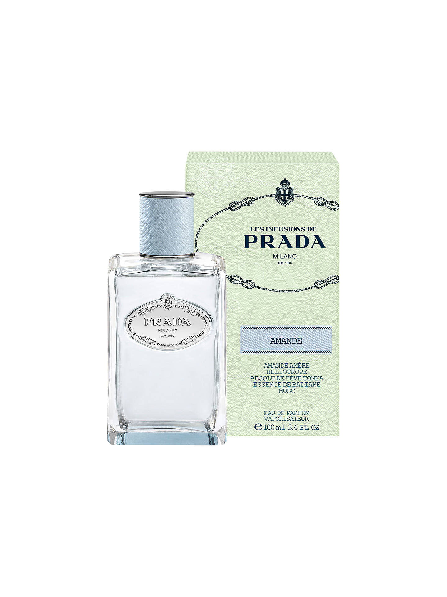 Buy Prada Les Infusions de Prada Amande Eau de Parfum, 100ml Online at johnlewis.com