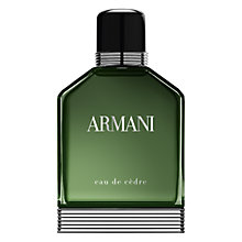 Buy Giorgio Armani Eau De Cèdre Eau de Toilette, 100ml Online at johnlewis.com