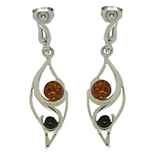 Buy Goldmajor Amber and Sterling Silver Two Tone Drop Earrings, Silver/Amber Online at johnlewis.com