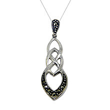 Buy Goldmajor Sterling Silver Marcasite Link Pendant Necklace, Silver Online at johnlewis.com