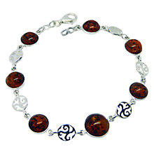 Buy Goldmajor Sterling Silver Amber Disc Bracelet, Silver/Amber Online at johnlewis.com