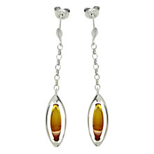 Buy Goldmajor Amber and Sterling Silver Sunset Drop Earrings, Silver/Amber Online at johnlewis.com