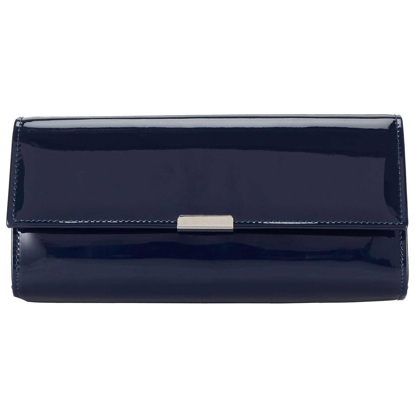 BuyJohn Lewis Patent Bar Clutch Bag, Navy Online at johnlewis.com