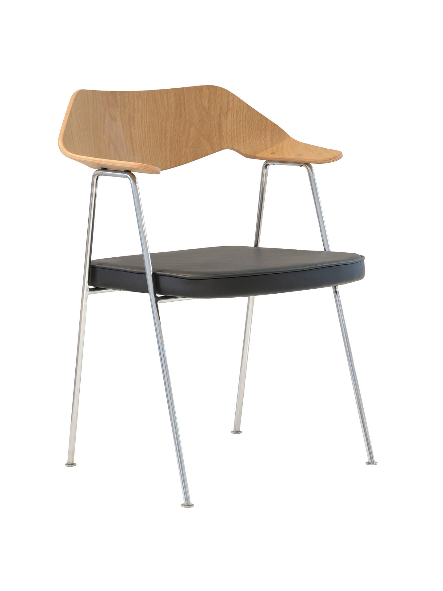 BuyCase Robin Day 675 Chair, Oak and Chrome Frame Online at johnlewis.com
