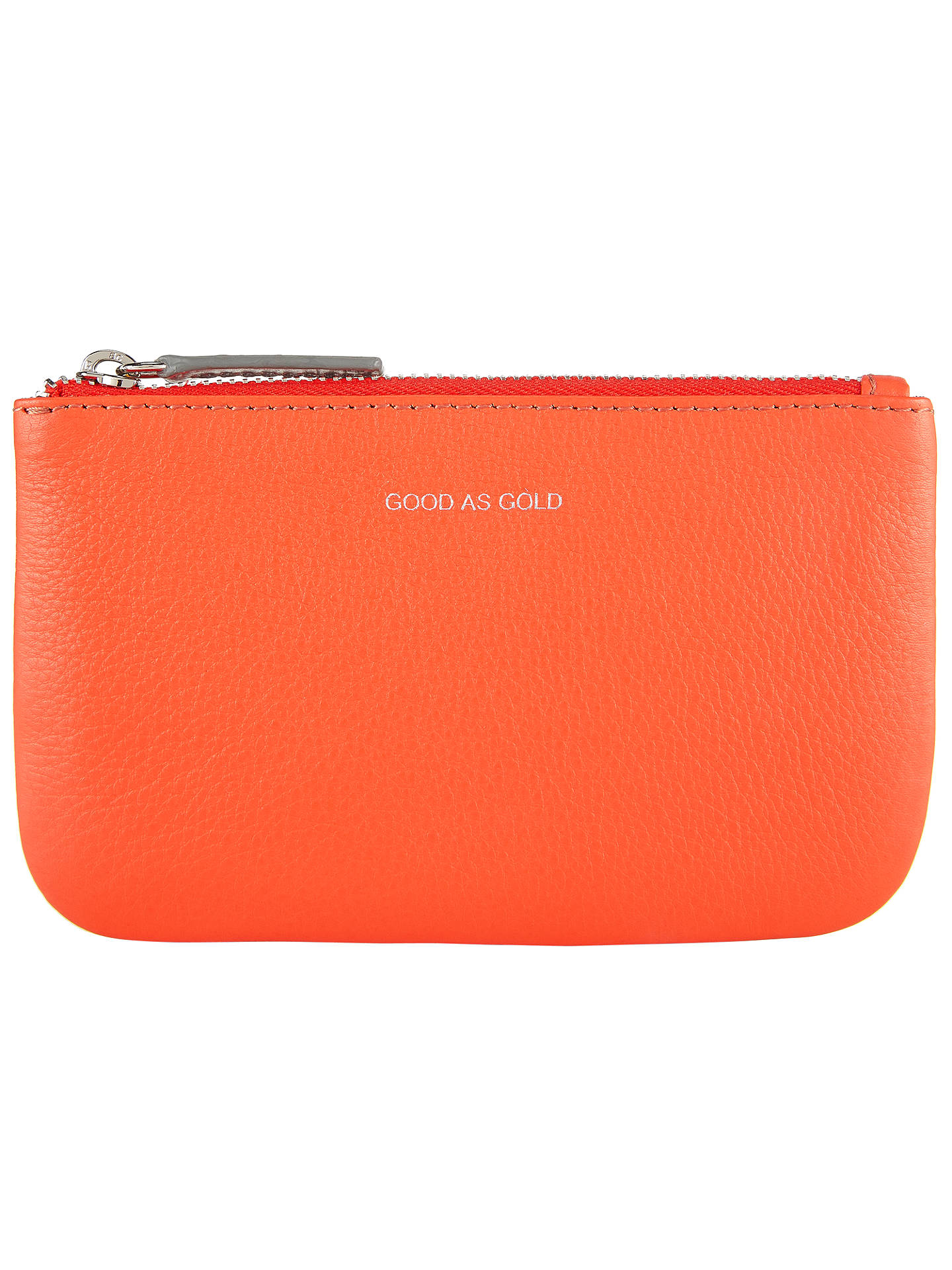 BuyCollection WEEKEND by John Lewis Hayley 'Good As Gold' Slogan Leather Coin Purse, Orange Online at johnlewis.com