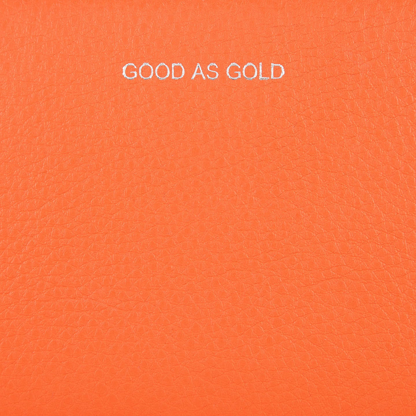 BuyCollection WEEKEND by John Lewis Hayley 'Good as Gold' Leather Slogan Ziparound Purse, Orange Online at johnlewis.com