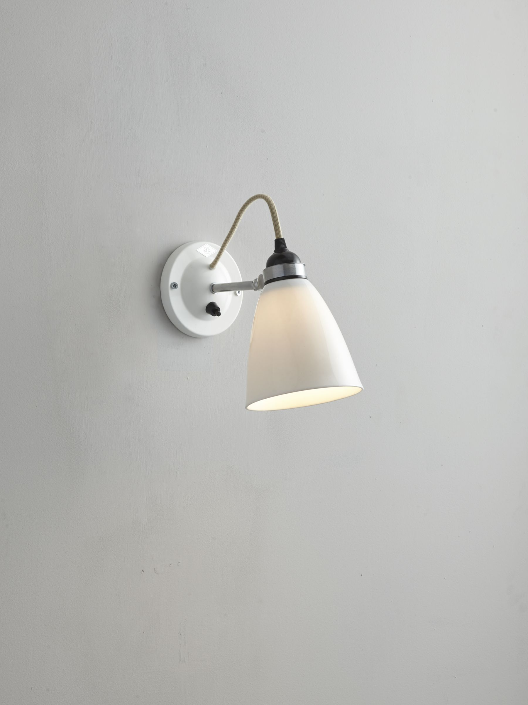 Original btc hector dome switched wall light medium natural white original btc hector dome switched wall light medium natural white at john lewis aloadofball Choice Image