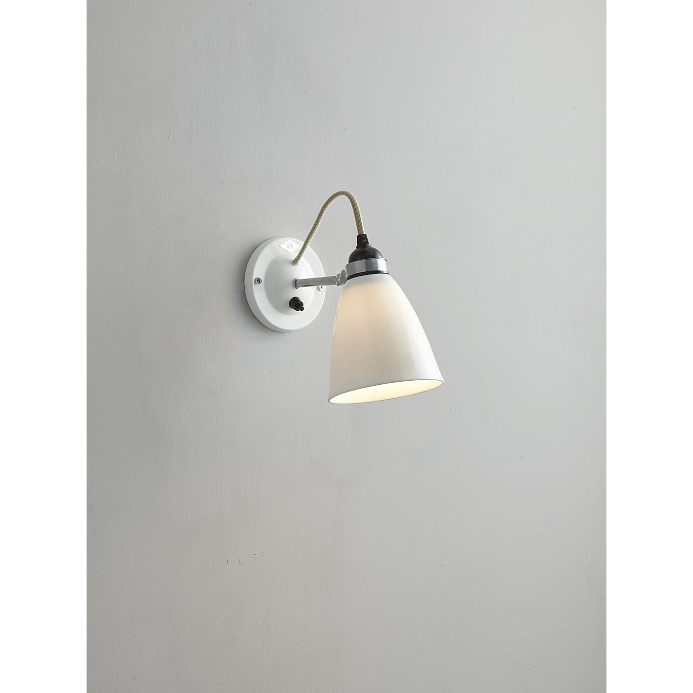 Buy original btc hector dome switched wall light medium natural buy original btc hector dome switched wall light medium natural white online at johnlewis mozeypictures Image collections