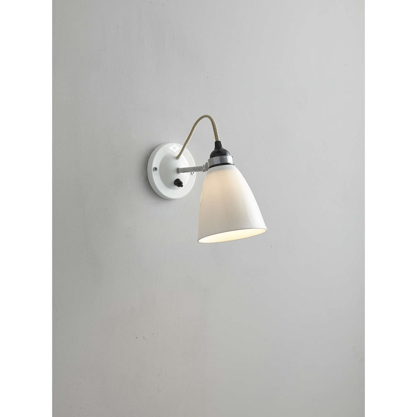 Original btc hector dome switched wall light medium natural white buyoriginal btc hector dome switched wall light medium natural white online at johnlewis aloadofball Gallery