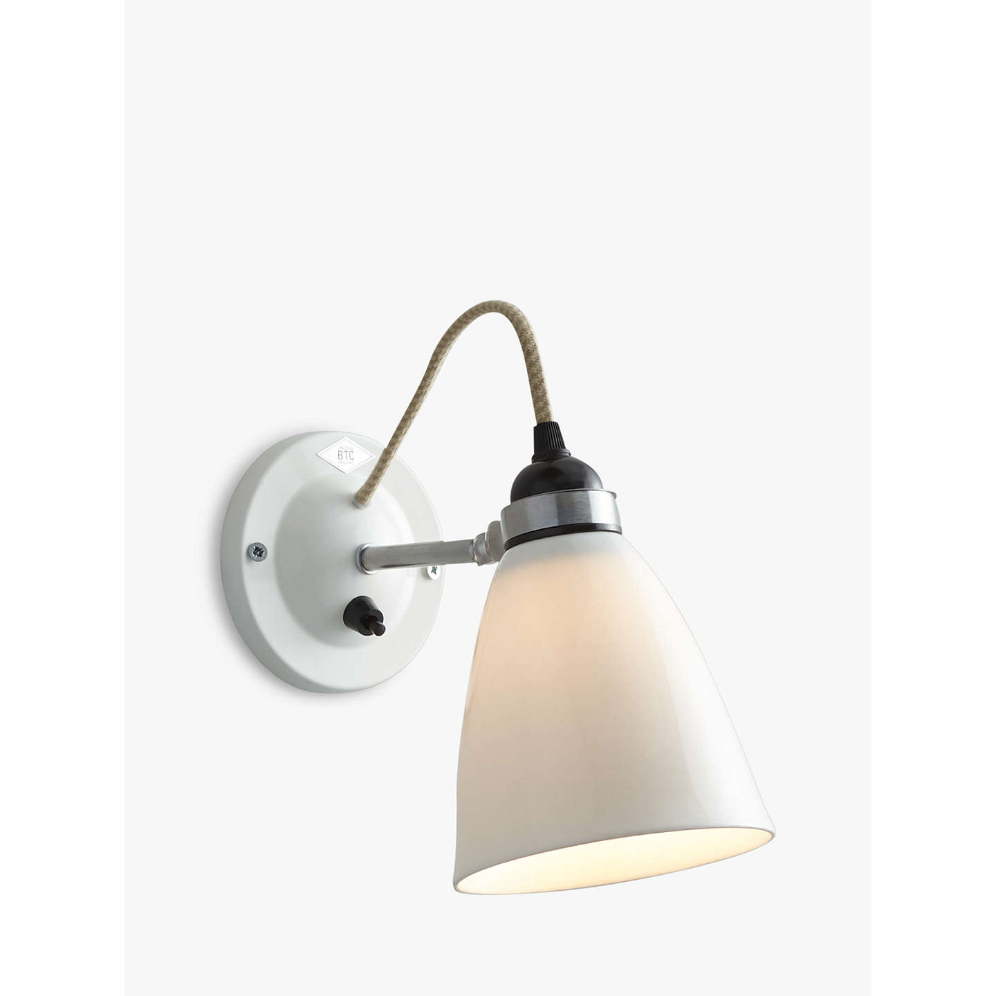 John Lewis Hector Outdoor Wall Light: Original BTC Hector Dome Switched Wall Light, Medium