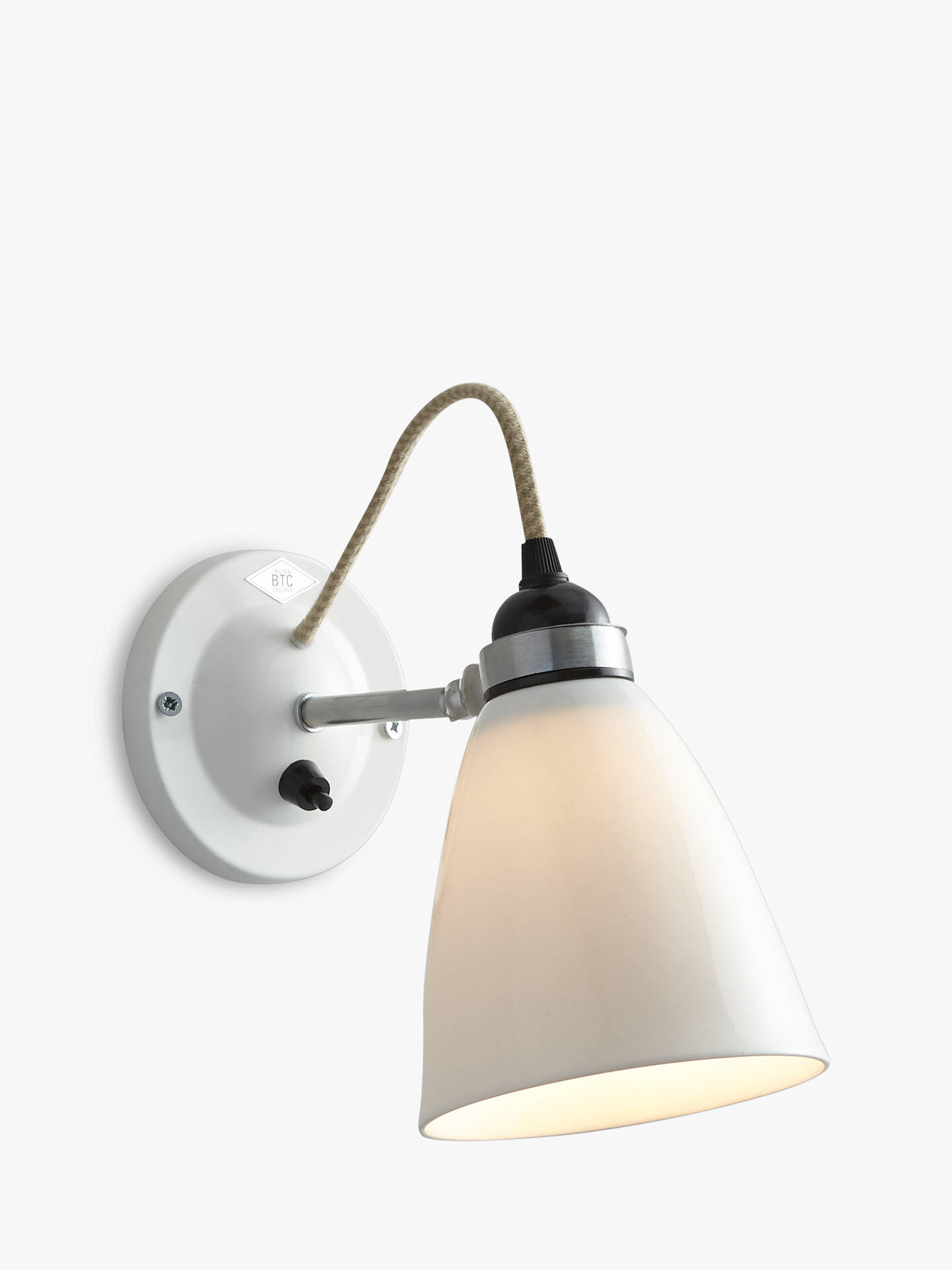 BuyOriginal BTC Hector Dome Switched Wall Light, Medium, Natural White Online at johnlewis.com