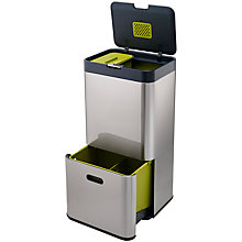 Buy Joseph Joseph Intelligent Waste Separation & Recycling Totem Bin 60L, Stainless Steel Online at johnlewis.com