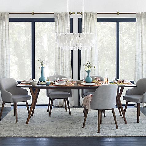 buy west elm saddle dining chair crosshatch steel john lewis. Black Bedroom Furniture Sets. Home Design Ideas
