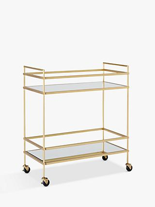 west elm Terrace Bar Cart, Antique Brass