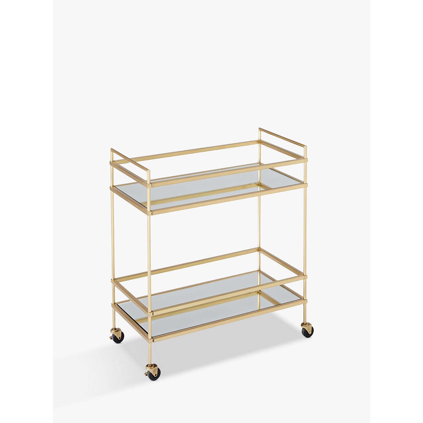 Buywest elm Terrace Bar Cart, Antique Brass Online at johnlewis.com