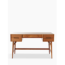 Buy west elm Mid-Century Desk, Acorn Online at johnlewis.com