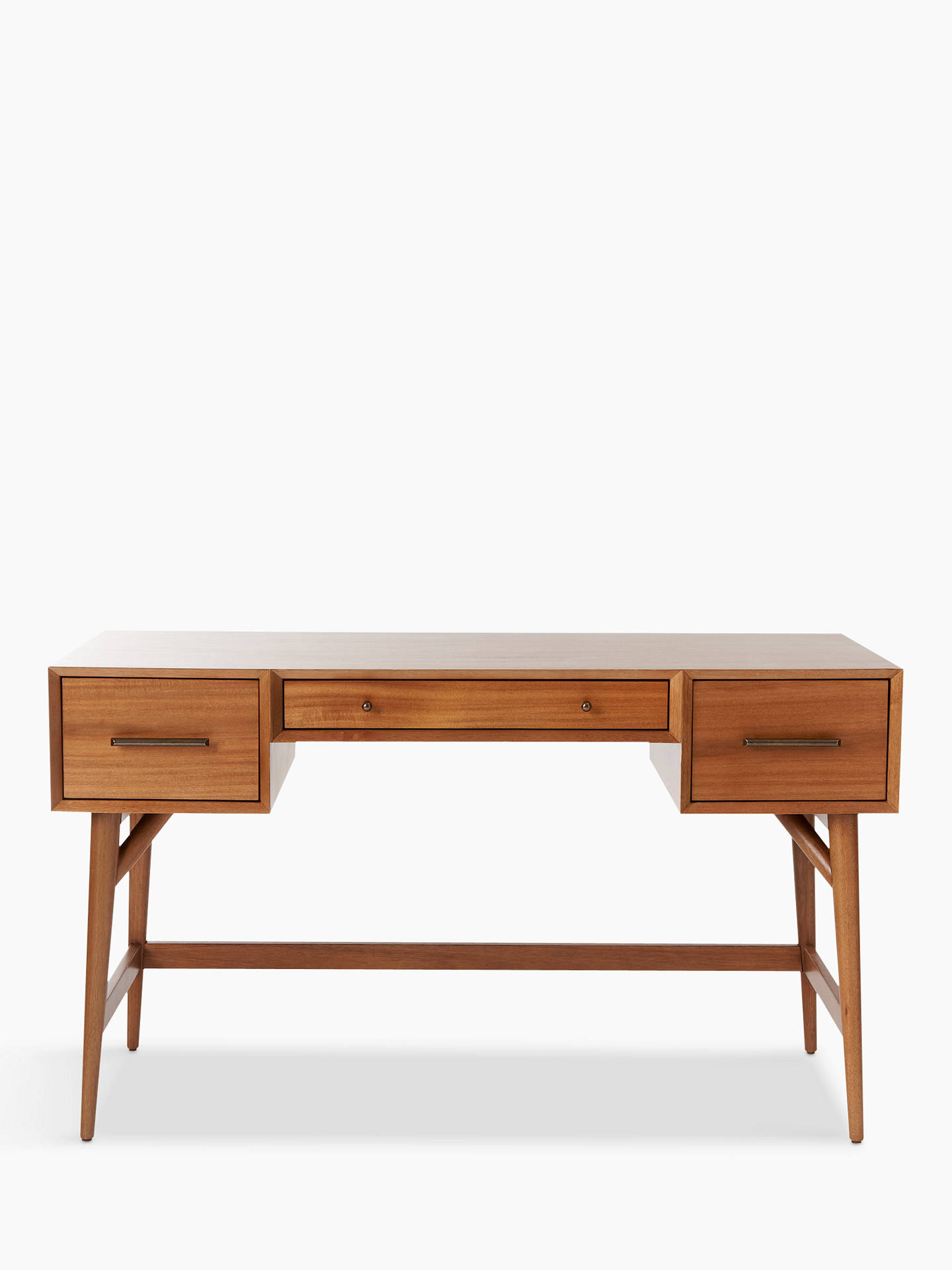 West Elm Mid Century Desk Acorn Online At Johnlewis