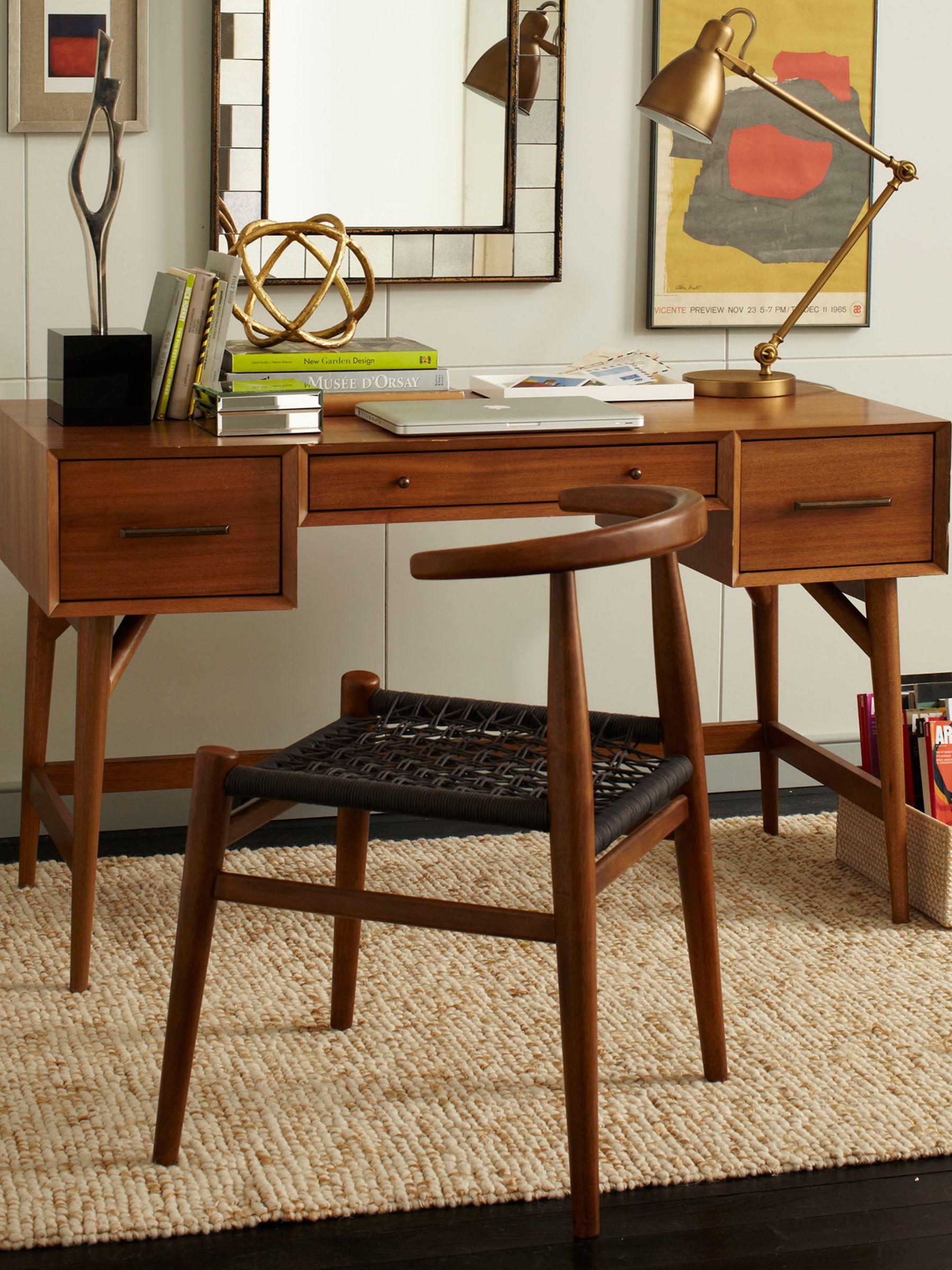 Image of: West Elm Mid Century Desk Acorn At John Lewis Partners