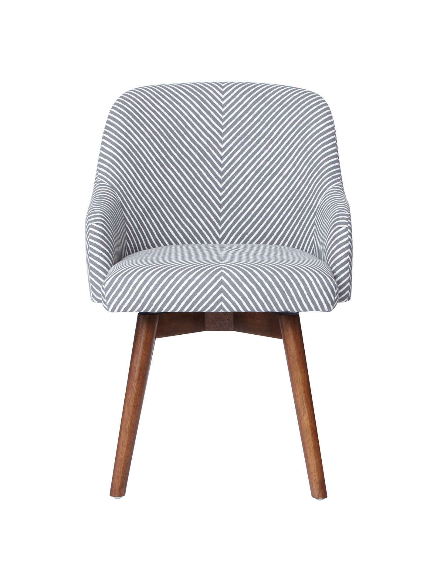 West Elm Saddle Office Chair Painted Stripe Gravel At John Lewis