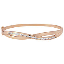 Buy A B Davis Cross Over Cubic Zirconia Bangle, Rose Gold Online at johnlewis.com