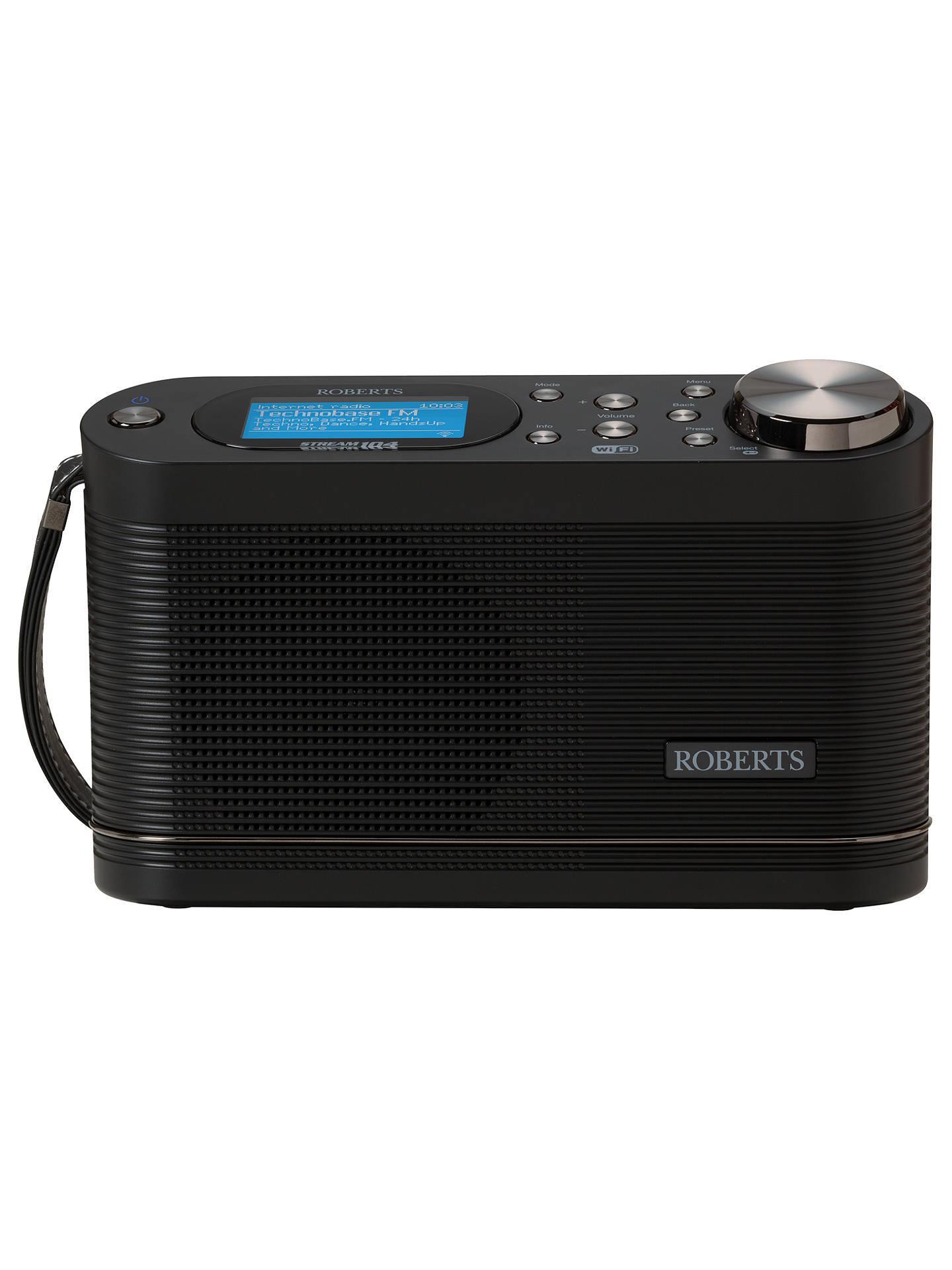 roberts stream 104 smart radio with dab fm internet radio. Black Bedroom Furniture Sets. Home Design Ideas