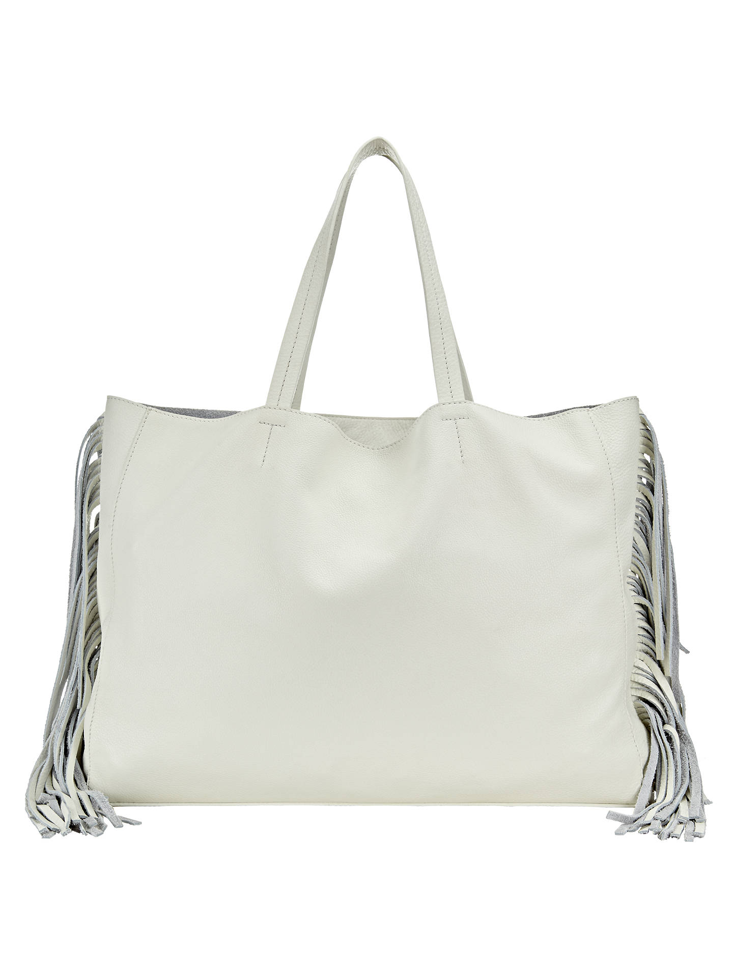 5516855182a Buy Collection WEEKEND by John Lewis Morgan Fringe Leather Tote, White  Online at johnlewis.