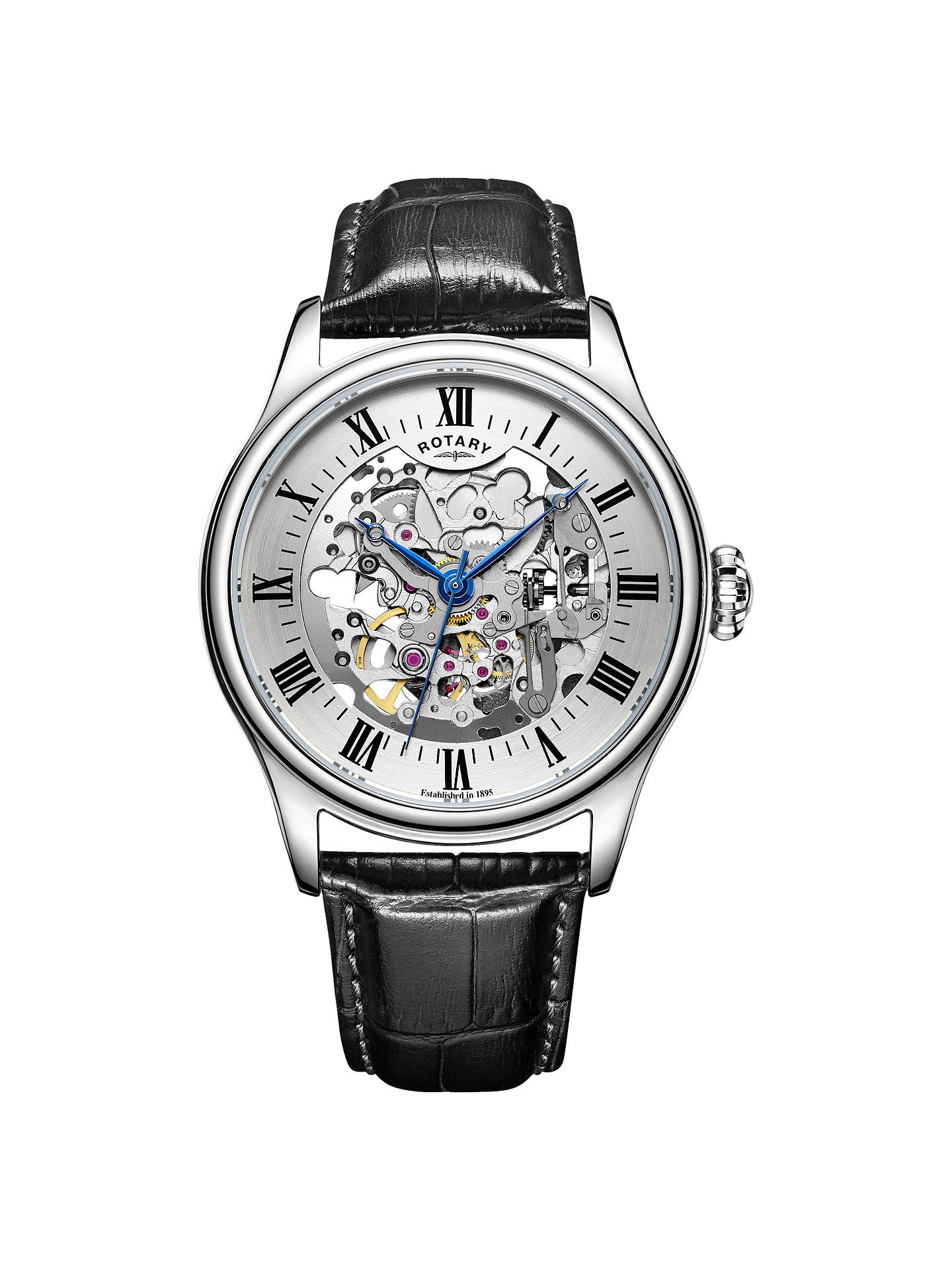 975a68137d83 Buy Rotary GS02940 06 Men s Skeleton Leather Strap Watch