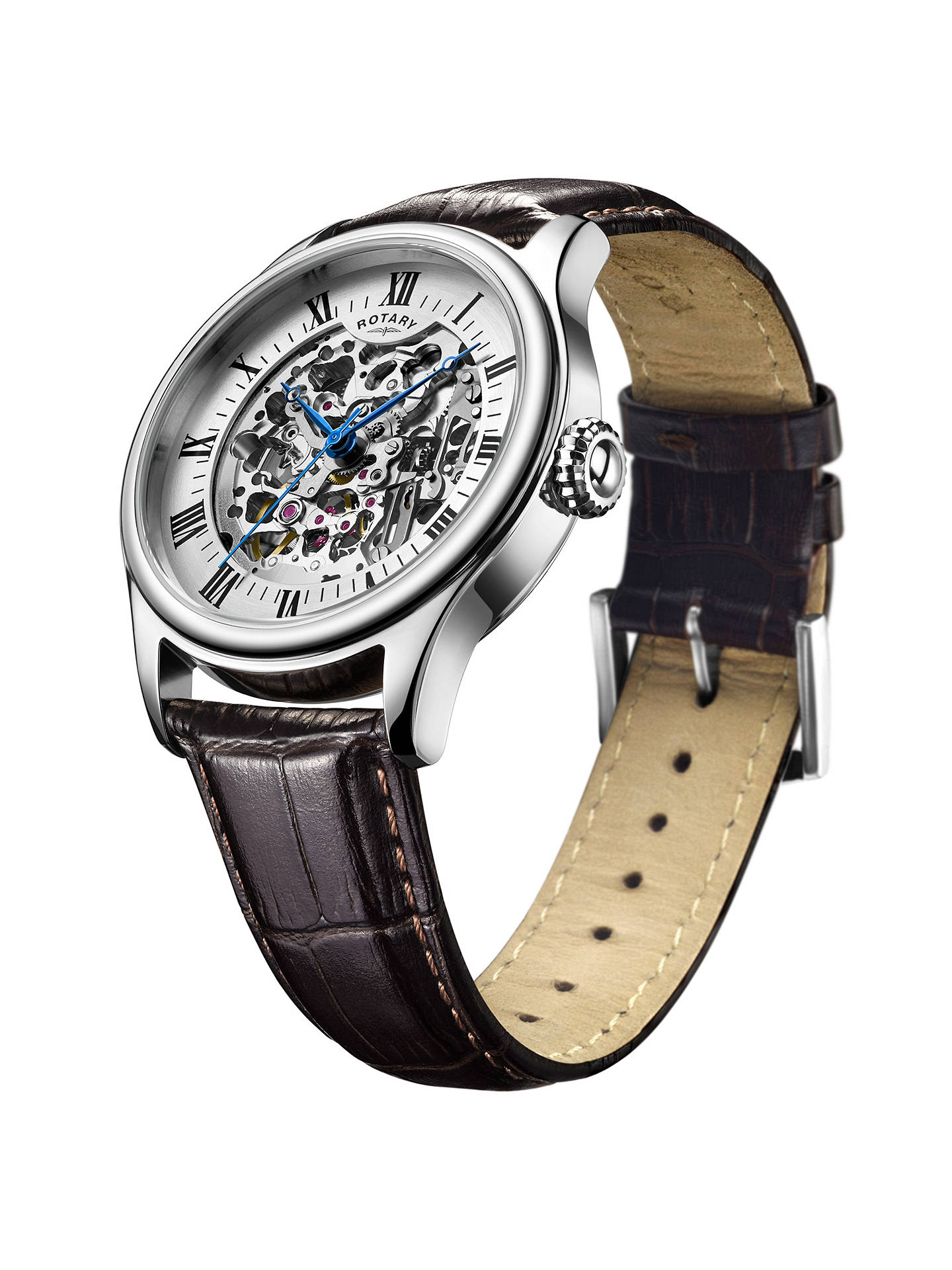ed4a63e3a111 ... Buy Rotary GS02940 06 Men s Skeleton Leather Strap Watch