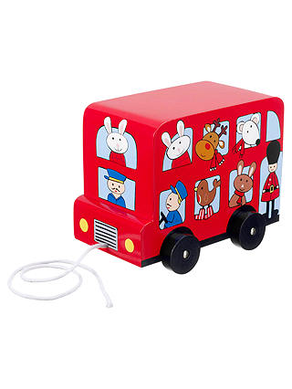Buy Orange Tree Christmas Red Bus Pull Along Toy Online at johnlewis.com