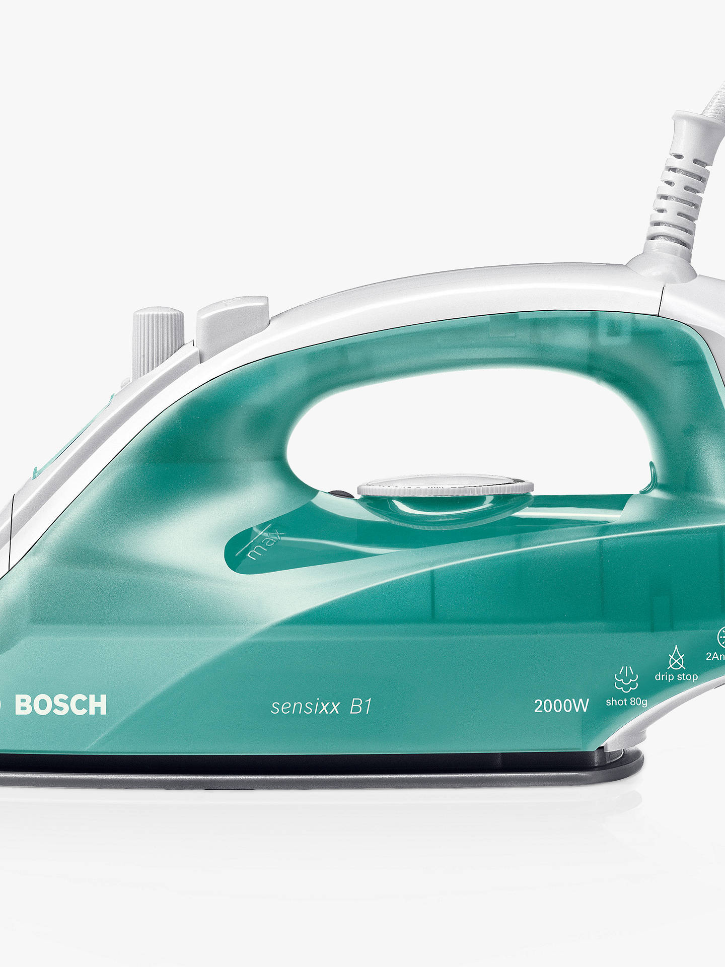 bosch tda2623gb steam iron green at john lewis partners. Black Bedroom Furniture Sets. Home Design Ideas