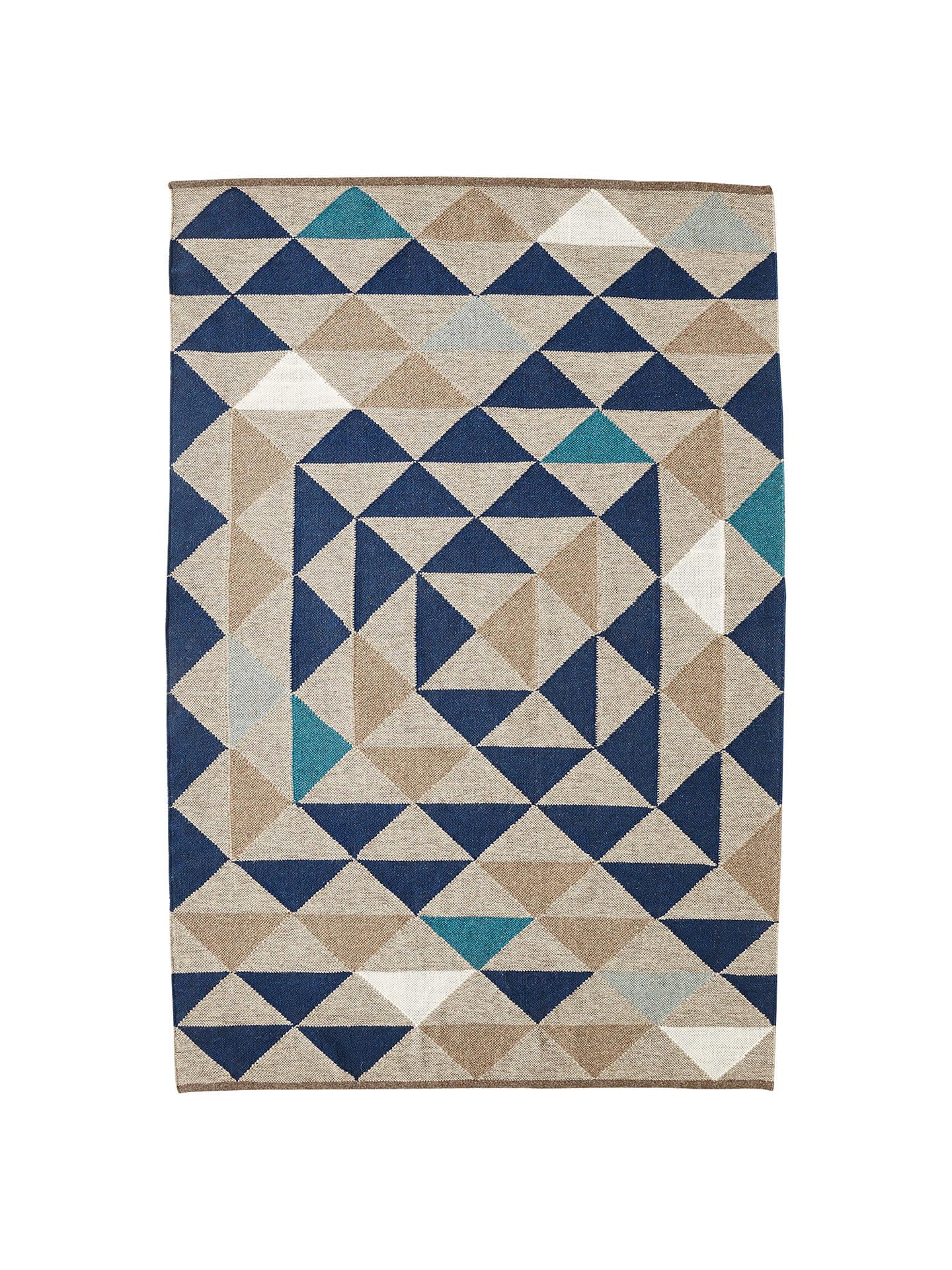 West Elm Framed Triangles Wool Kilim Rug Online At Johnlewis