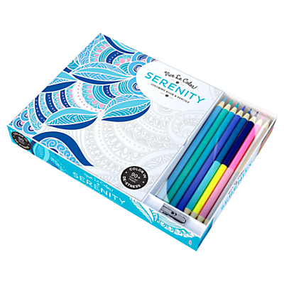 Vive Le Color! Serenity Colouring Book with Coloured Pencils