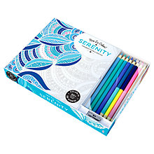 Buy Vive Le Color! Serenity Colouring Book with Coloured Pencils Online at johnlewis.com