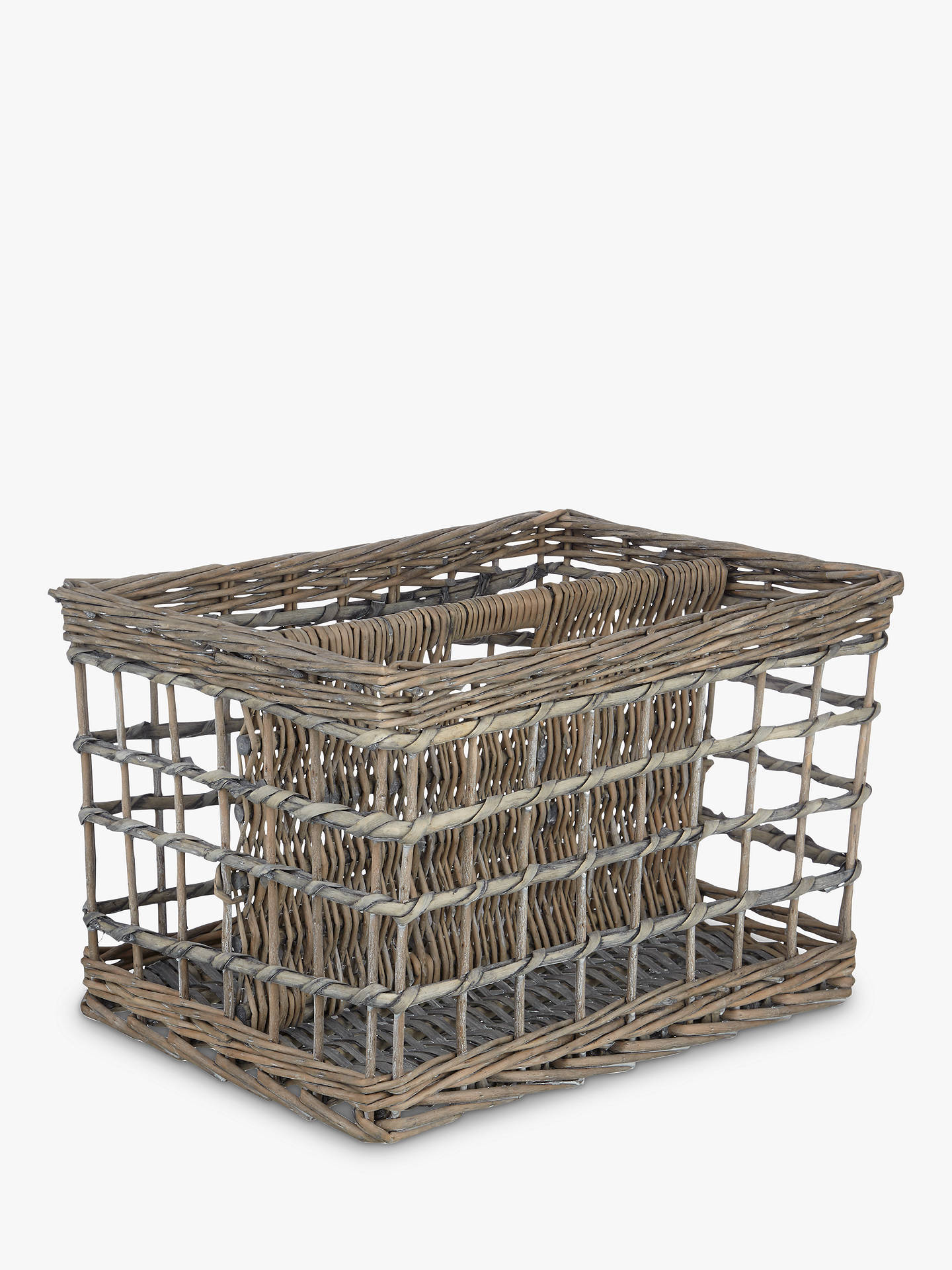 BuyJohn Lewis & Partners Grey Wicker Magazine Rack Online at johnlewis.com