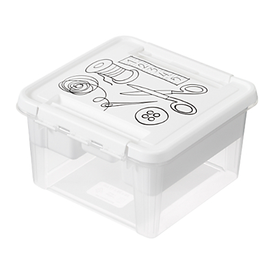 SmartStore by Orthex Deco Plastic Sewing Box with Insert (8L)