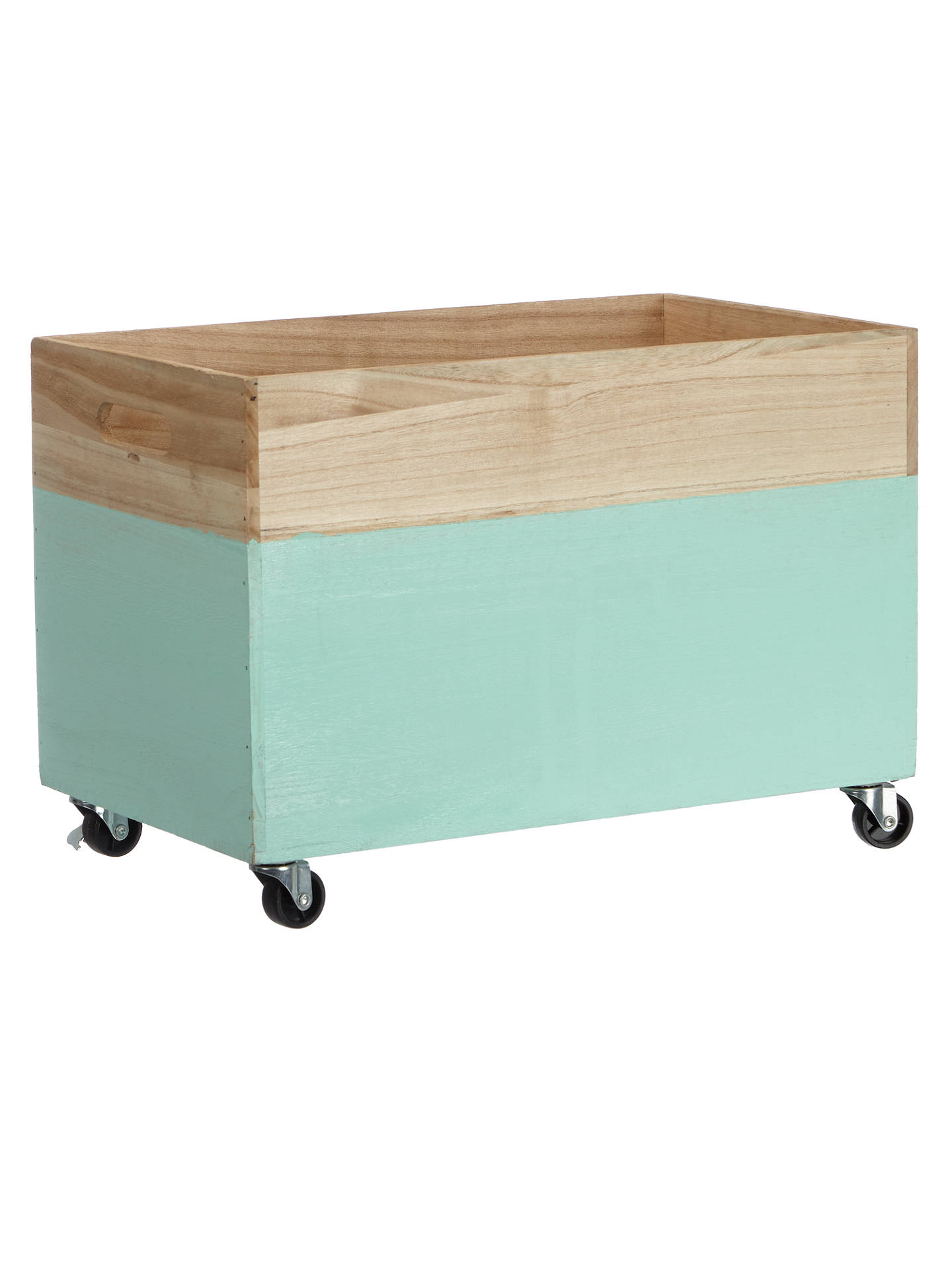 House by John Lewis Storage Box on Wheels, Mint at John ...