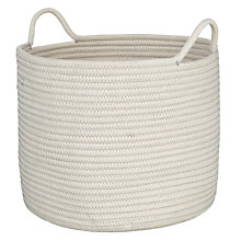 Buy John Lewis Rope Storage Bucket, White Online at johnlewis.com