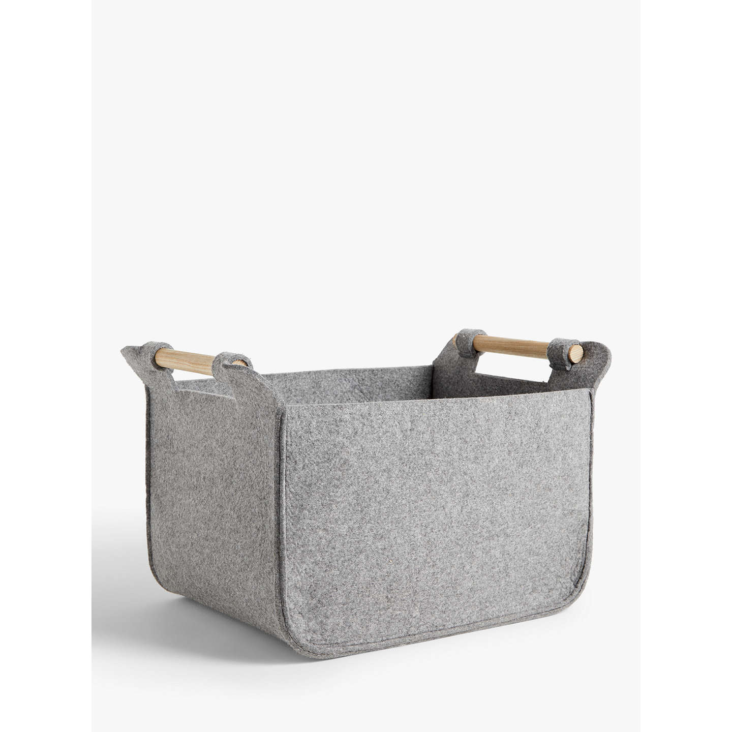 BuyJohn Lewis Grey Felt Storage Basket with Ash Handles Online at johnlewis.com