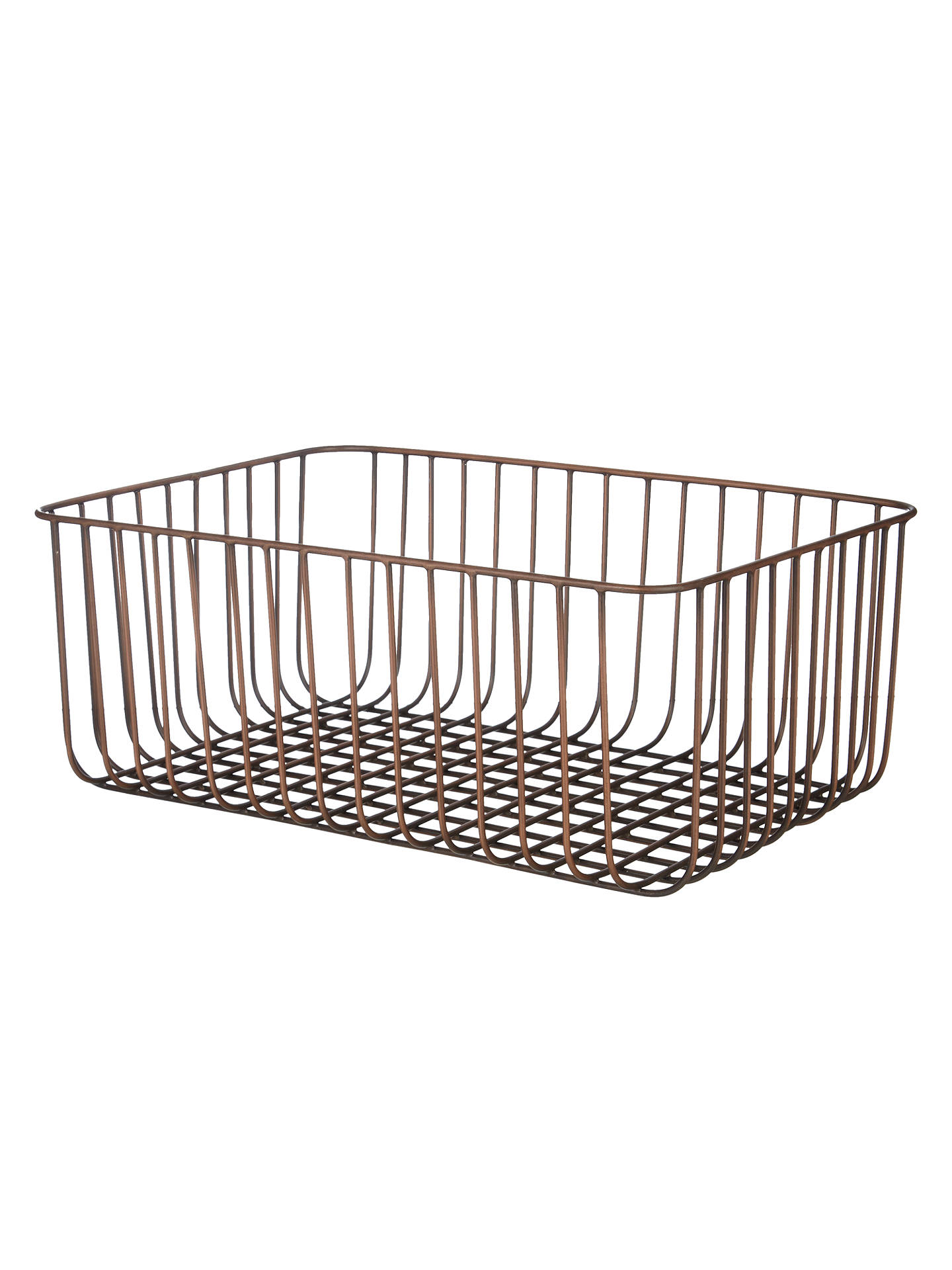 BuyJohn Lewis Fusion Antique Copper Wire Basket Online at johnlewis.com