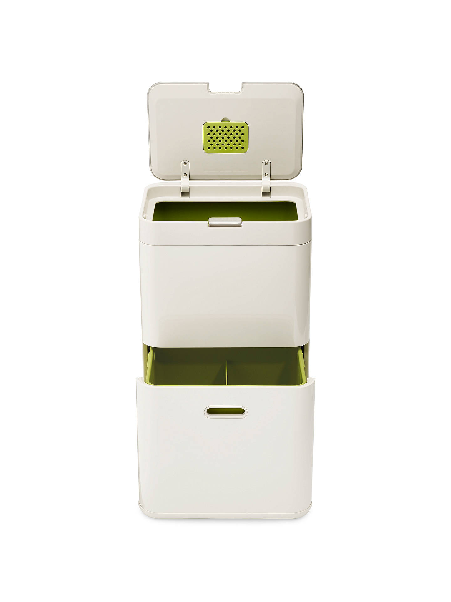 Buy Joseph Joseph Intelligent Waste Totem Recycling Separation Unit, 48L, Stone Online at johnlewis.com
