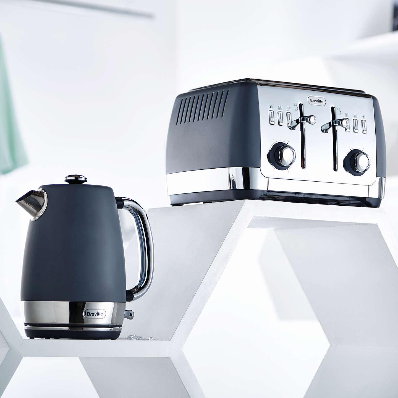 breville strata jug kettle matte grey at john lewis. Black Bedroom Furniture Sets. Home Design Ideas