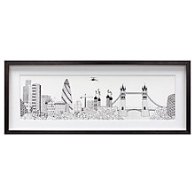 Buy Charlene Mullen - Gherkin and Tower Bridge, Framed Print, 38 x 98cm Online at johnlewis.com