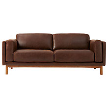 Buy west elm Dekalb Aniline Leather Sofa, Molasses Online at johnlewis.com