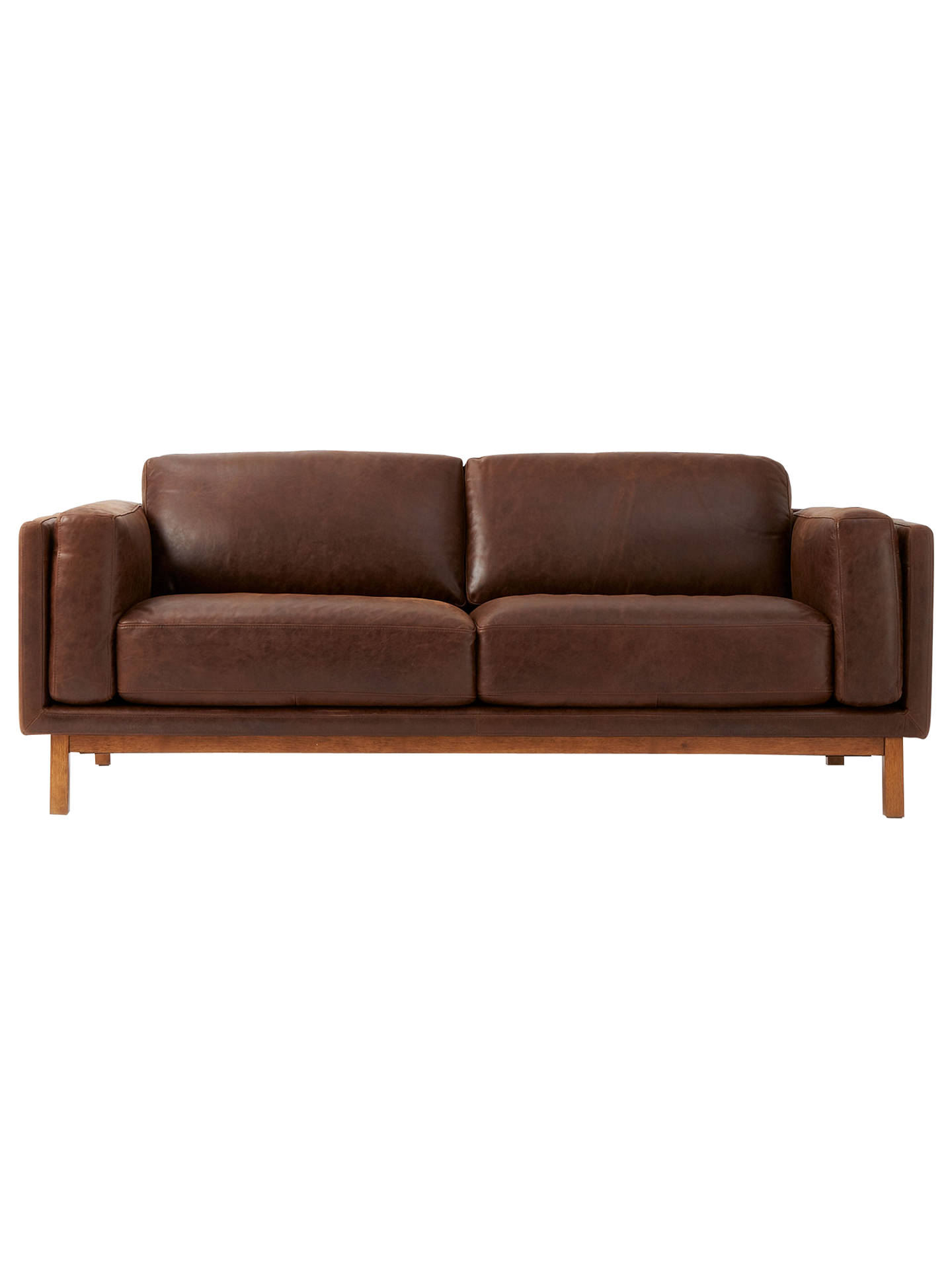 West Elm Dekalb Aniline Leather Sofa Moles Online At Johnlewis