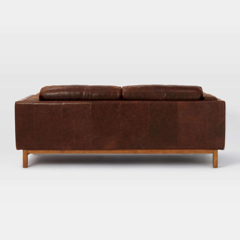 West Elm Dekalb Aniline Leather Sofa Molasses At John Lewis