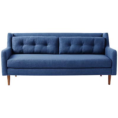 west elm Crosby 3 Seater Sofa, Aegean Blue