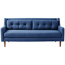 Buy west elm Crosby 3 Seater Sofa, Aegean Blue Online at johnlewis.com