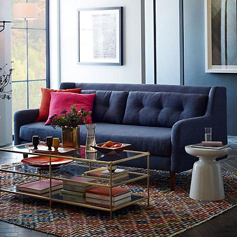 buy west elm crosby 3 seater sofa aegean blue john lewis. Black Bedroom Furniture Sets. Home Design Ideas