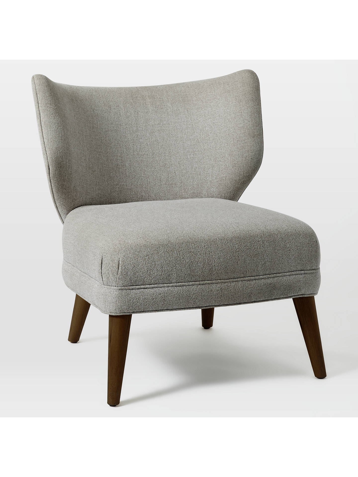 West Elm Retro Wing Chair Retro Weave Grey At John Lewis Partners