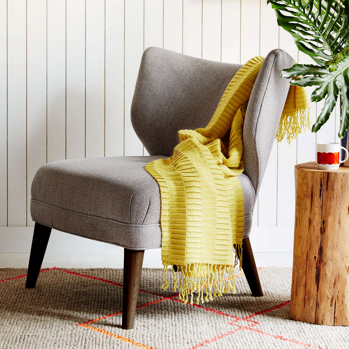 Superbe ... Buywest Elm Retro Wing Chair, Retro Weave Grey Online At Johnlewis.com  ...